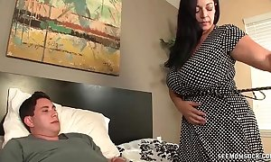 Huge-titted milf enjoys this generous strapon