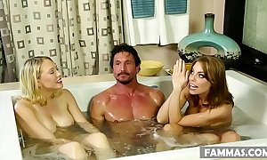 Busty stepsisters with an increment of their dumfound client # britney amber, kagney linn karter with an increment of tommy gunn