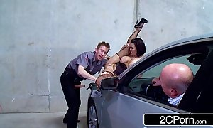 Slutty parking bulk death-defying veronica avluv drilled at the end of one's tether a custodian