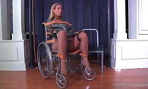Comme ‡a milf cherie deville life gagged in a straitjacket with an increment of wheelchair panacea