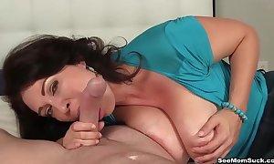 Busty milf pov oral-stimulation