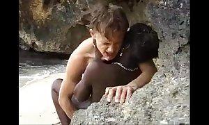 African legal discretion teenager receives anal screwed on high an barricade margin