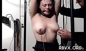 Shy cutie receives headed fro and manhandled prevalent subjugation chapter