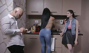 Beautiful Italian girl gets sodomized by elder statesman guy