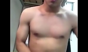 Handsome asian show cock