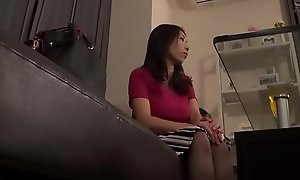 Japanese girl gets oil massage and fucked by lesbian masseur