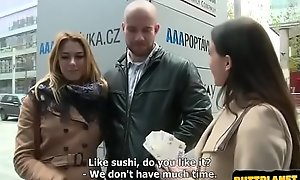 Teen and her boyfriend Gets Money for Public SEX (Ani Black Fox)