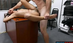 Young Shoplifter With Black Hair Forced to Get Fucked By LP Man - Vienna Black