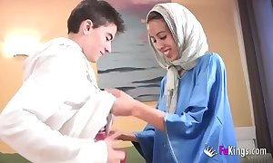 We surprise jordi at the end of one's tether gettin him his roguish arab girl! skeletal legal age teenager hijab