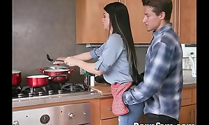 Fucking My Hot Step Mom While She Cooking - Pornfam.com