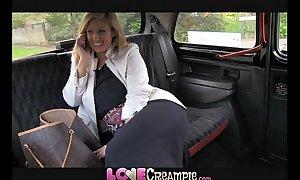Fancy creampie busty and noxious british progenitrix lets taxi wine steward cum inner