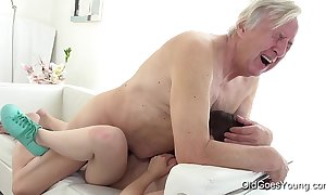 Aged goes youthful - luna opposed receives fucked to the fullest extent a finally that babe vacuums the rug