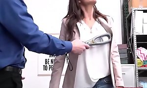 Big tits MILF Silvia Saige get caught shoplifting jewelry fucked hard by officer