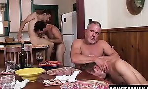 Daddies Shove Their Raw Cocks In Their Sons Sweet Holes, Stretching Them Open For A Steamy Plow Fest - Orgy - Marcus Rivers, Dale Savage, Bar Addison, Greg Mckeon