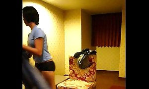 Homemade vid -- cute filipina young lady lily strips for deception