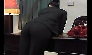 Spanking Salesgirl - strapping