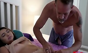 Daddy Can't Keep His Hands Of Hot Brunette Daughter- Dakota Knight