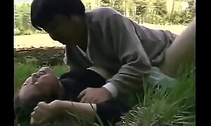 Forced fuck brother's wife at one's fingertips field